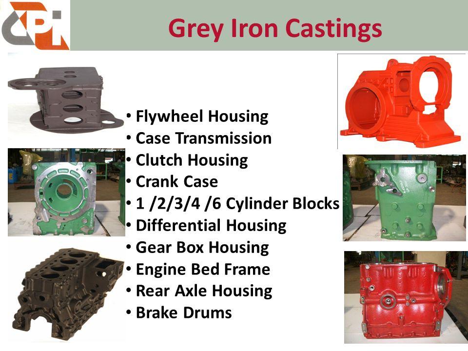 Grey Iron Castings 9 Flywheel Housing Case Transmission Clutch Housing Crank Case 1 /2/3/4 /6 Cylinder Blocks Differential Housing Gear Box Housing Engine Bed Frame Rear Axle Housing Brake Drums