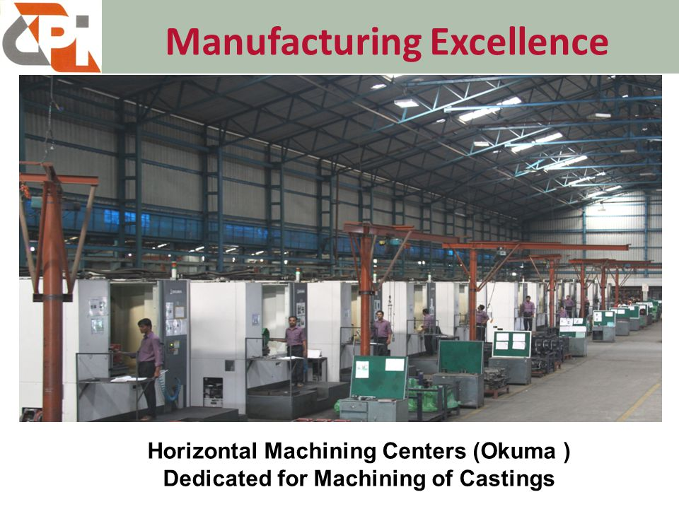 Manufacturing Excellence Horizontal Machining Centers (Okuma ) Dedicated for Machining of Castings