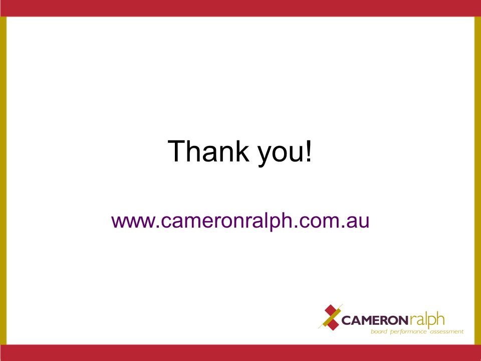 Thank you! www.cameronralph.com.au