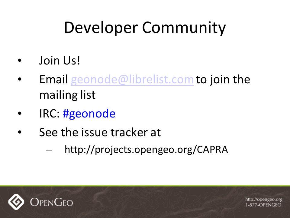 Developer Community Join Us.