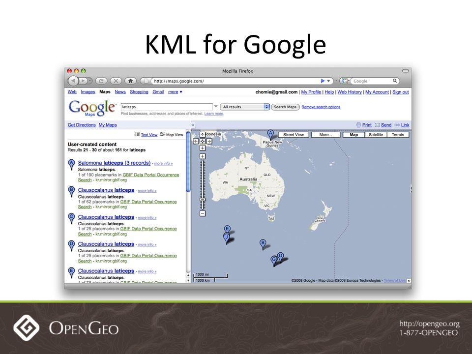 KML for Google