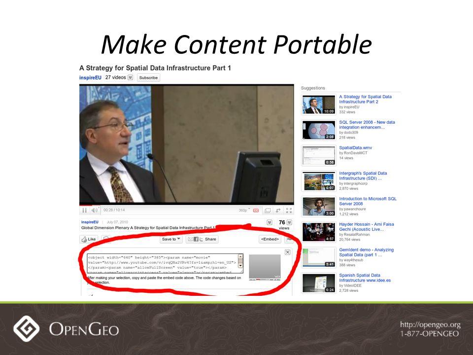 Make Content Portable