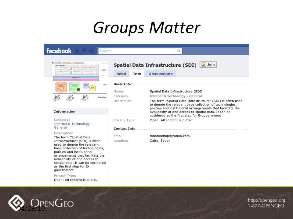 04/26/10 Groups Matter