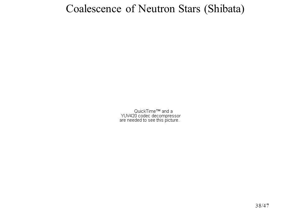 38/47 Coalescence of Neutron Stars (Shibata)