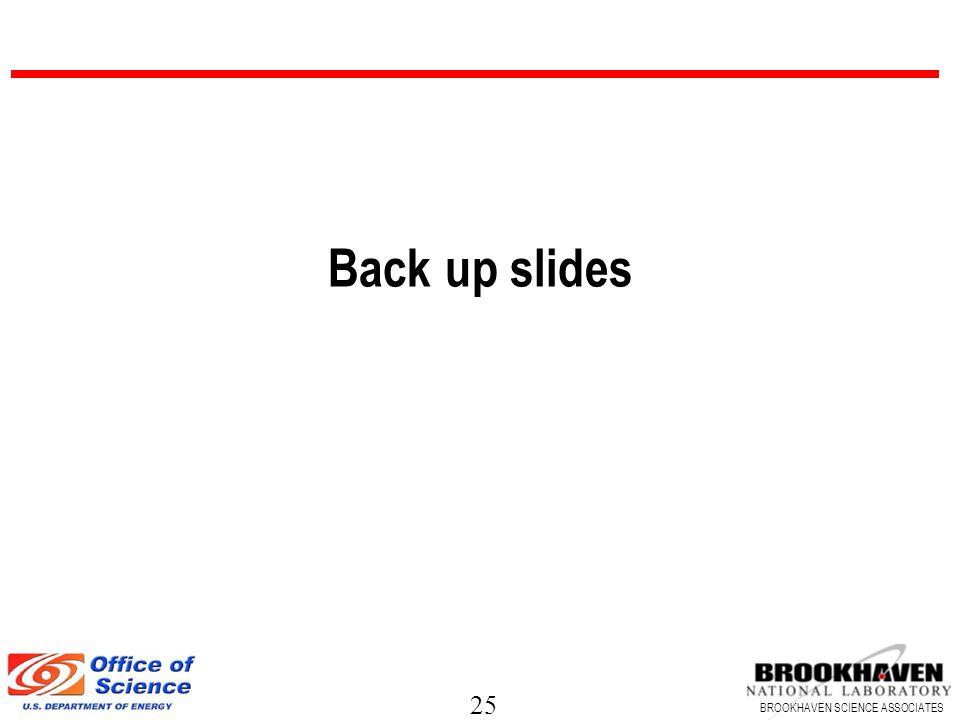 25 BROOKHAVEN SCIENCE ASSOCIATES Back up slides