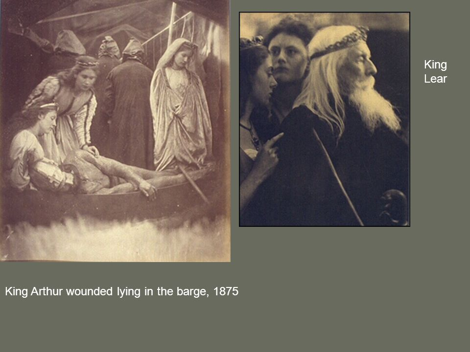 King Arthur wounded lying in the barge, 1875 King Lear