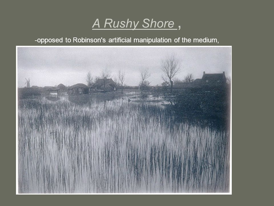 A Rushy Shore, -opposed to Robinson's artificial manipulation of the medium,