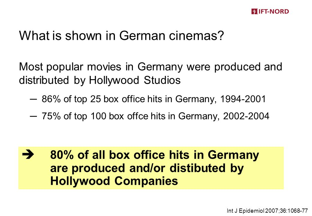 What is shown in German cinemas.