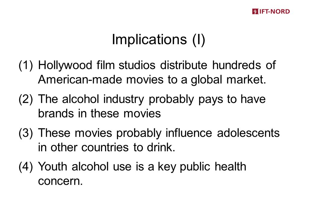 (1)Hollywood film studios distribute hundreds of American-made movies to a global market.
