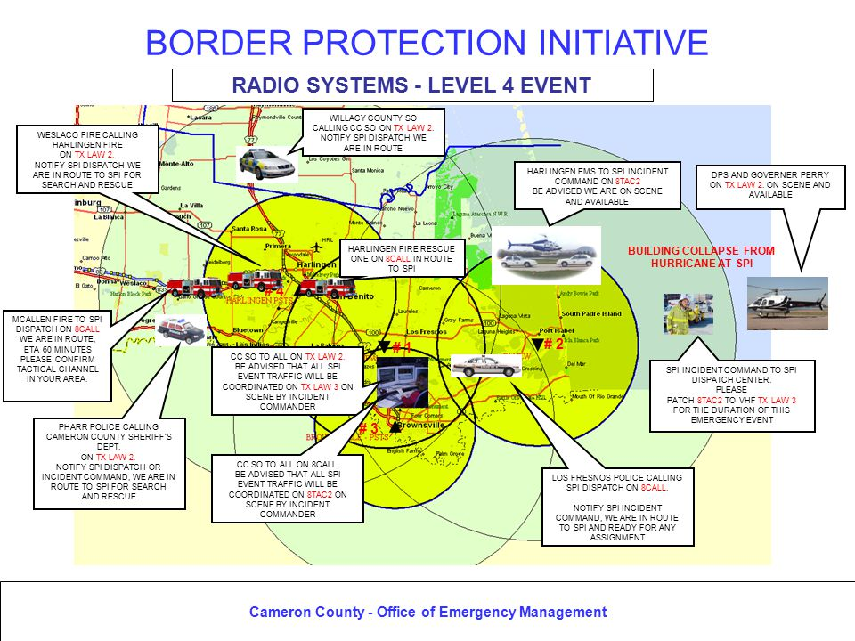 Cameron County - Office of Emergency Management BORDER PROTECTION INITIATIVE
