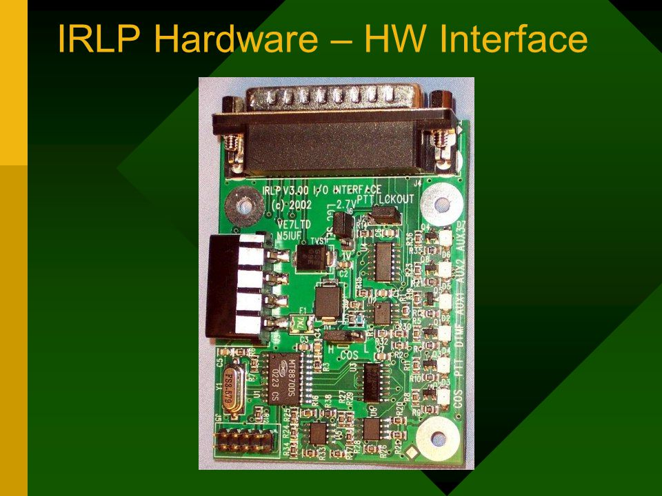 IRLP Hardware – HW Interface