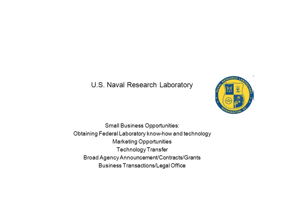 U.S.Naval Research Laboratory Points of Contact Dr Rita C.