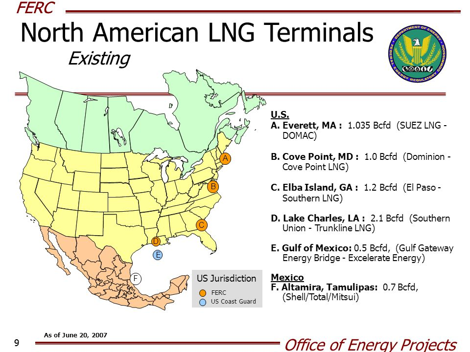 FERC Office of Energy Projects 10 APPROVED - UNDER CONSTRUCTION U.S.