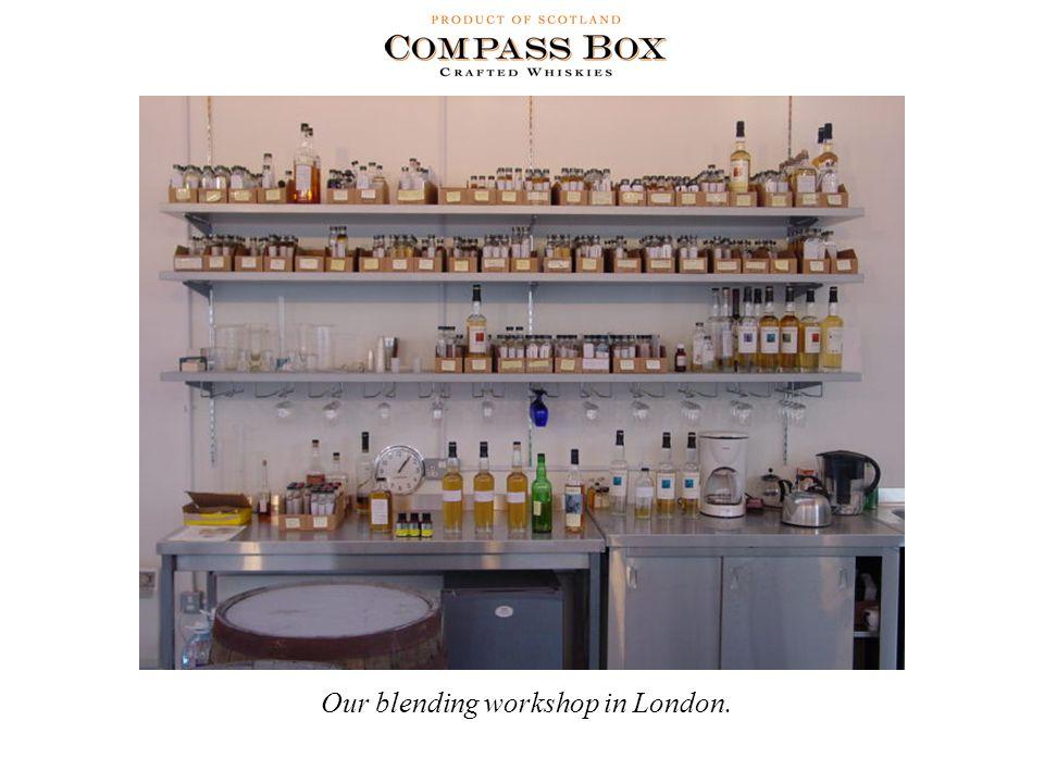 Our blending workshop in London.