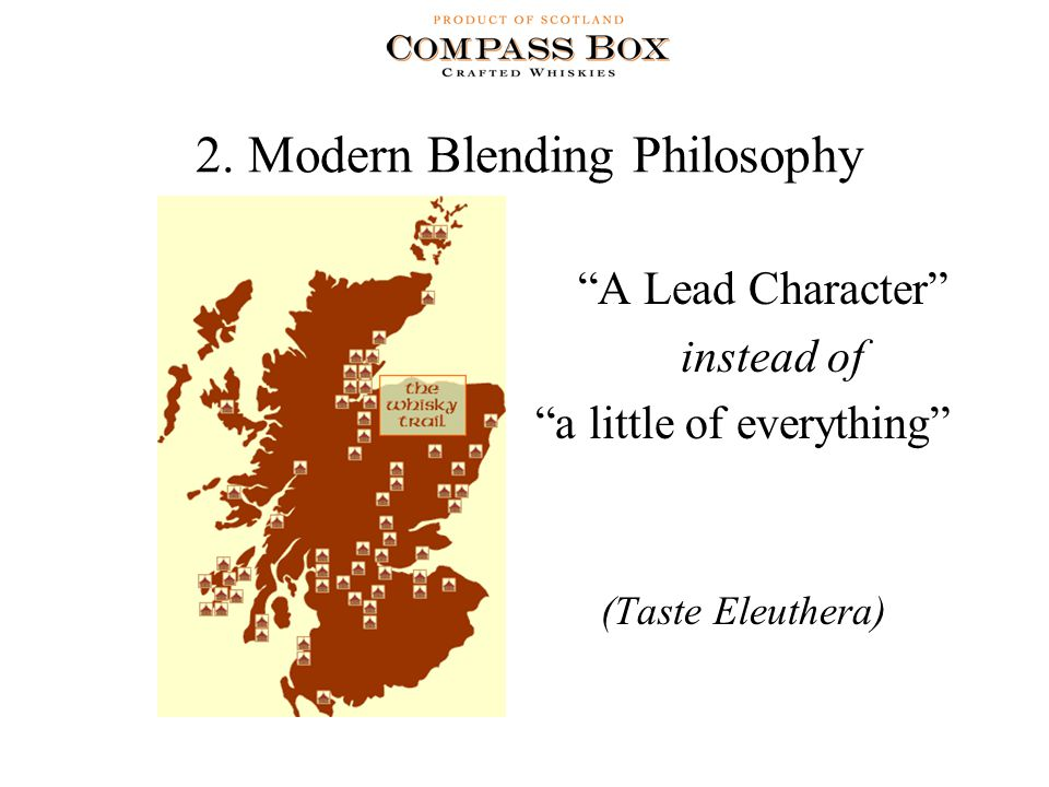 """2. Modern Blending Philosophy """"A Lead Character"""" instead of """"a little of everything"""" (Taste Eleuthera)"""