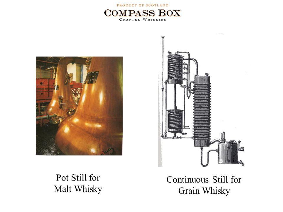 Continuous Still for Grain Whisky Pot Still for Malt Whisky