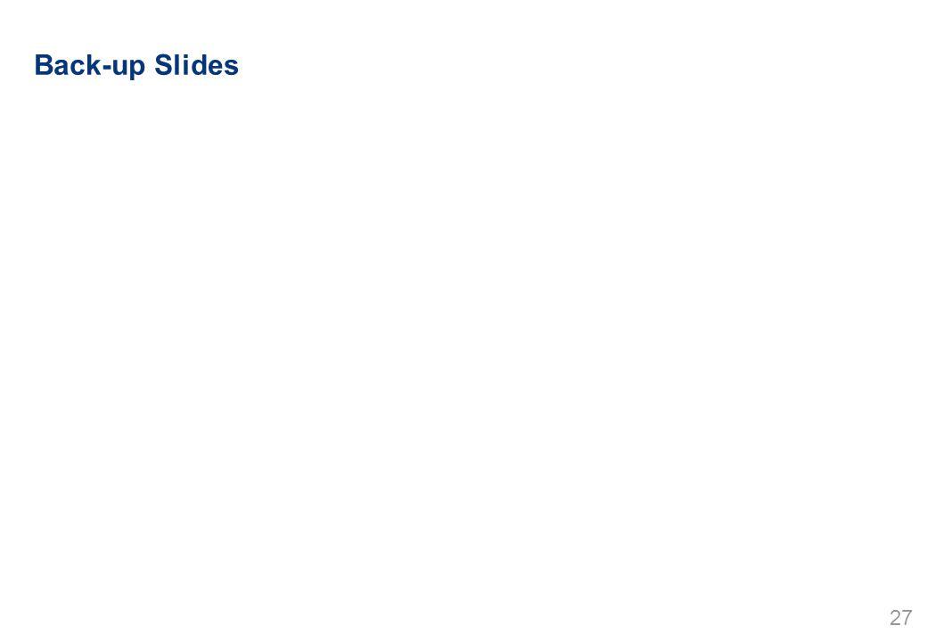 27 Back-up Slides
