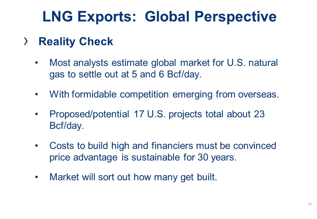www.woodmac.com LNG Exports: Global Perspective Reality Check Most analysts estimate global market for U.S.