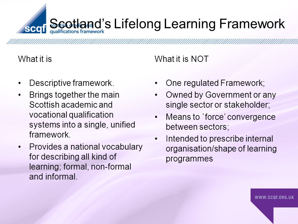 Discussion Is it possible to use the SCQF to widen access.