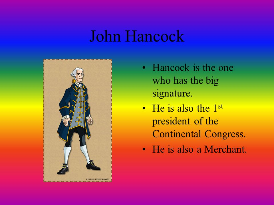 JOHN HANCOCK By CAMERON