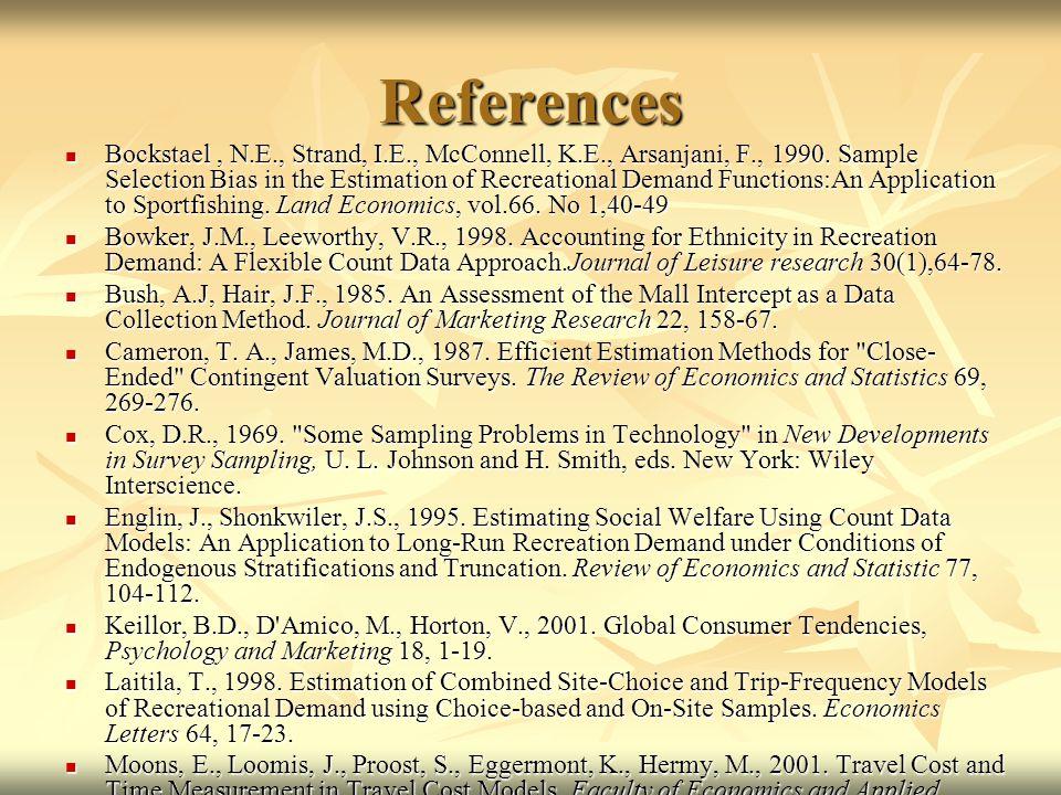 References Bockstael, N.E., Strand, I.E., McConnell, K.E., Arsanjani, F., 1990.