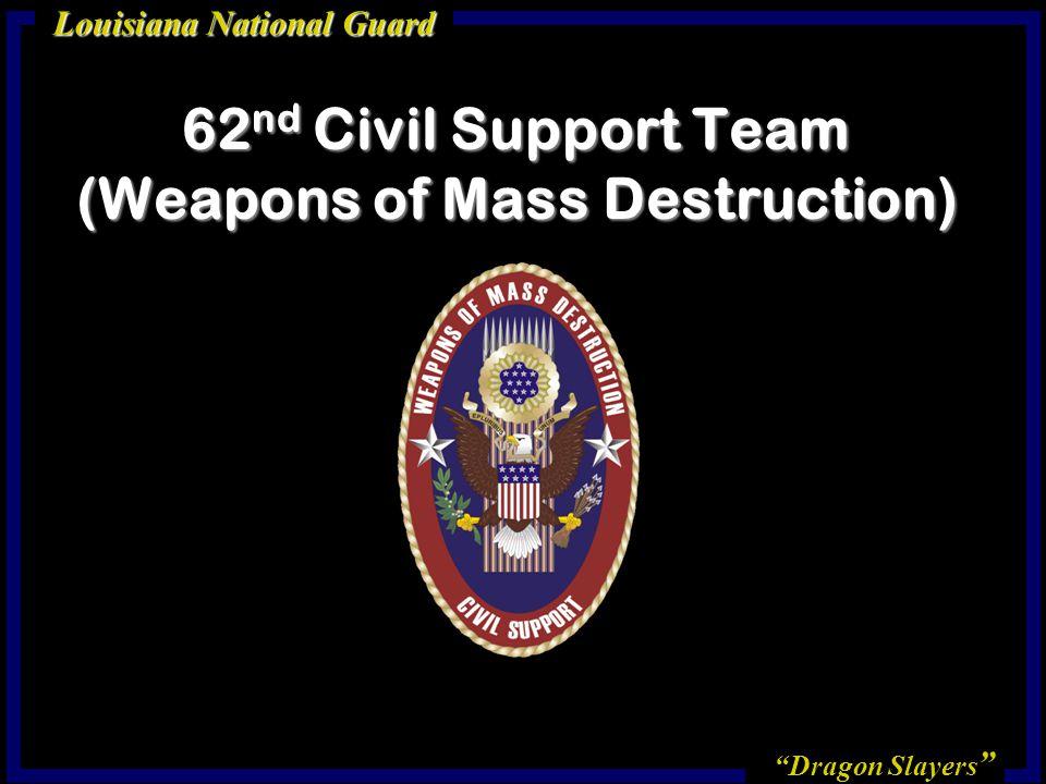 Dragon Slayers Louisiana National Guard 62 nd Civil Support Team (Weapons of Mass Destruction)