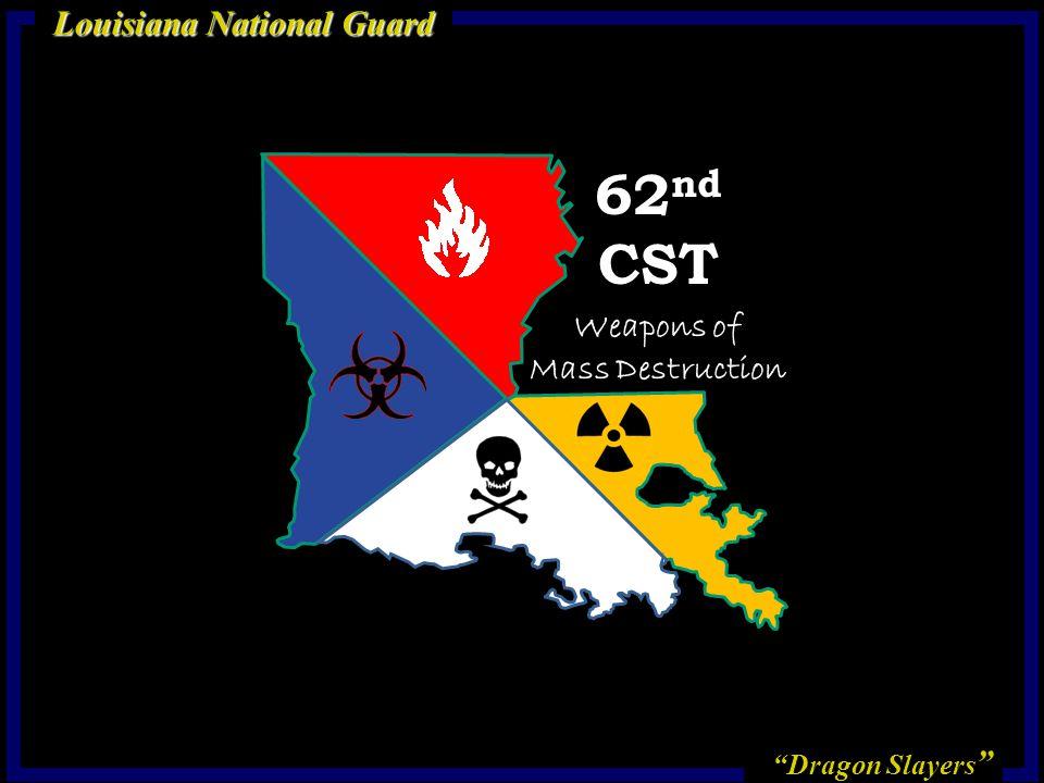 Dragon Slayers Louisiana National Guard 62 nd CST Weapons of Mass Destruction