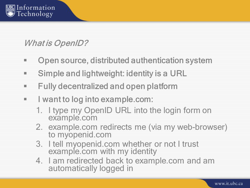What is OpenID.