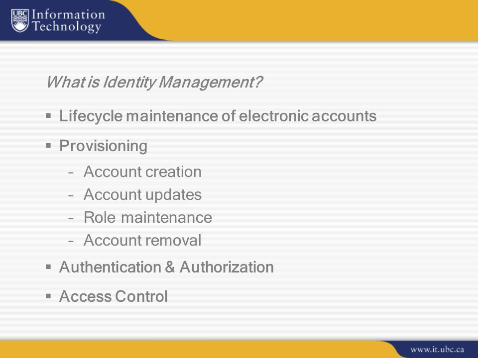 What is Identity Management.