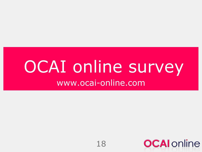 18 OCAI online survey www.ocai-online.com