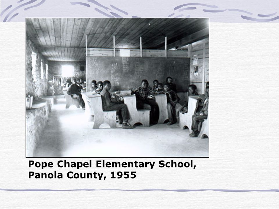 Pope Chapel Elementary School, Panola County, 1955