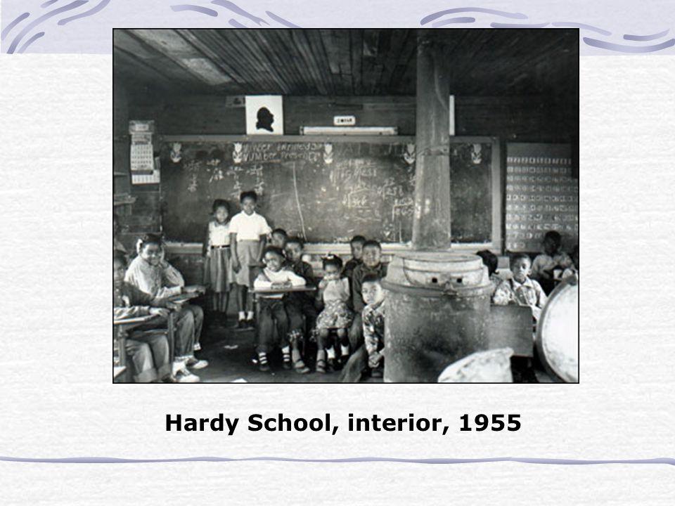 Hardy School, interior, 1955