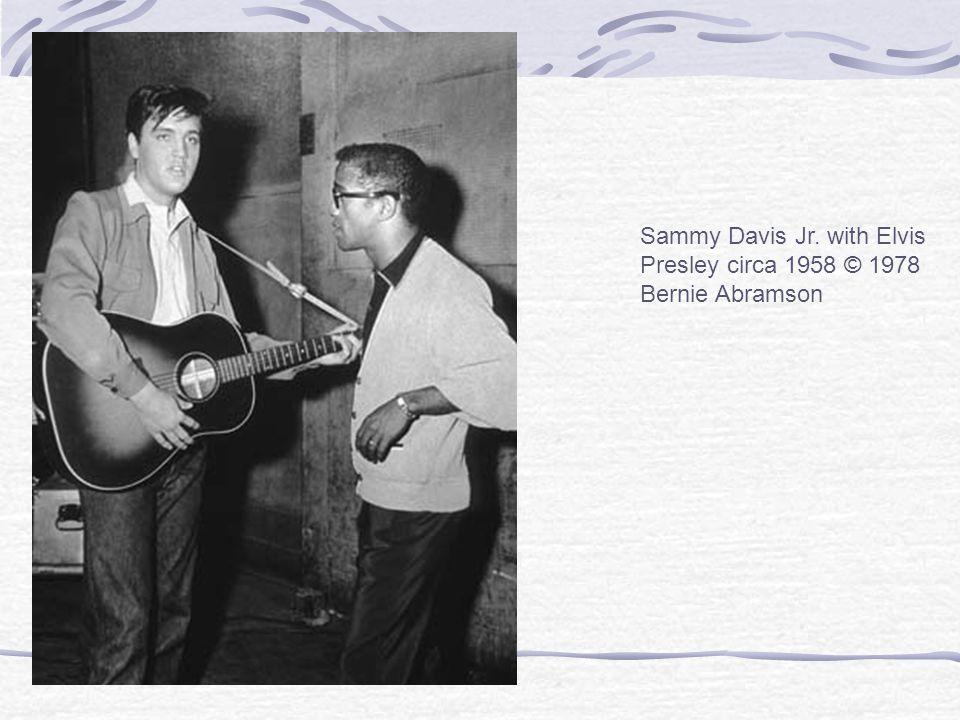 Sammy Davis Jr. with Elvis Presley circa 1958 © 1978 Bernie Abramson