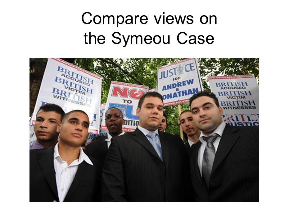 Compare views on the Symeou Case