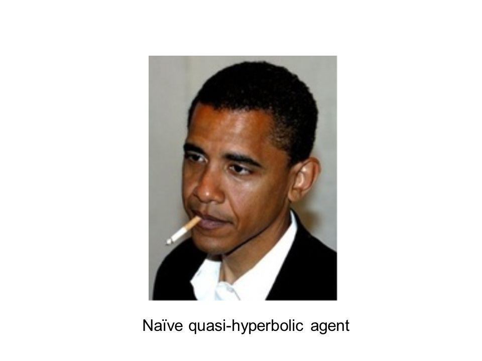 Naïve quasi-hyperbolic agent