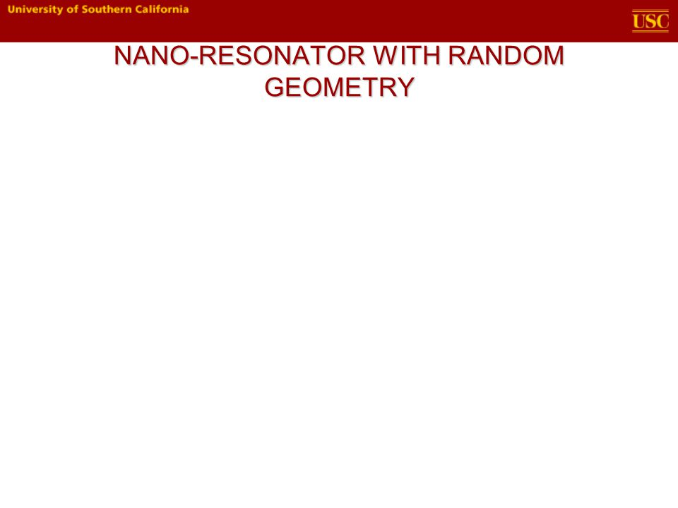 NANO-RESONATOR WITH RANDOM GEOMETRY