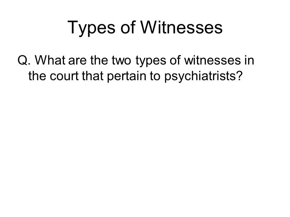 Types of Witnesses Q.