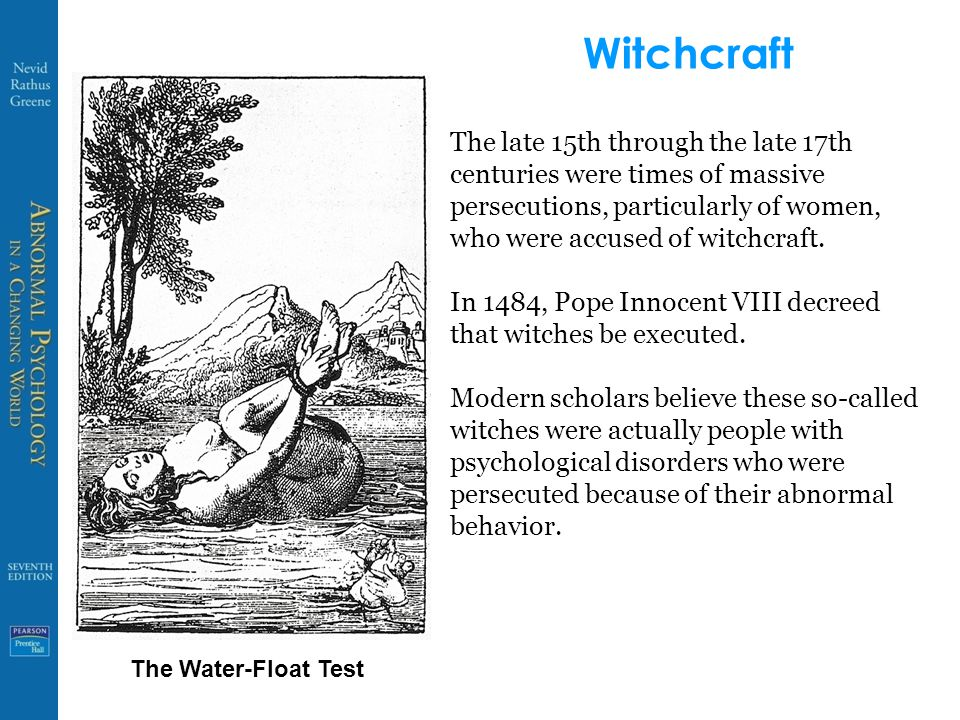Witchcraft The late 15th through the late 17th centuries were times of massive persecutions, particularly of women, who were accused of witchcraft.