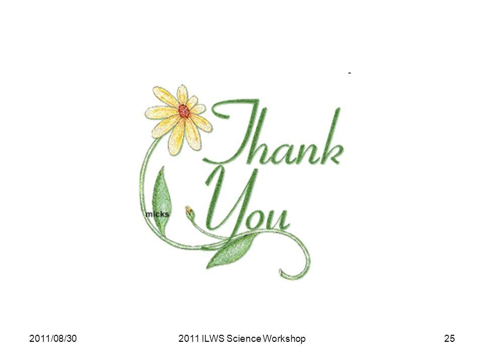 2011/08/302011 ILWS Science Workshop25