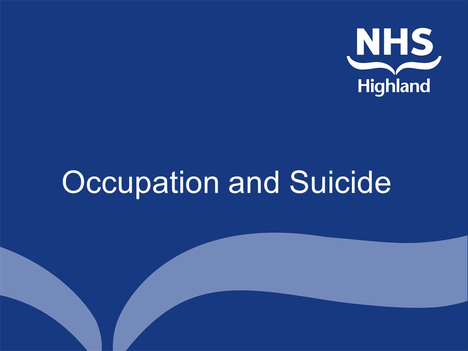Occupation and Suicide