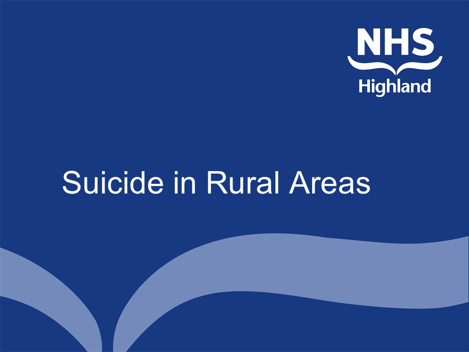 Suicide in Rural Areas