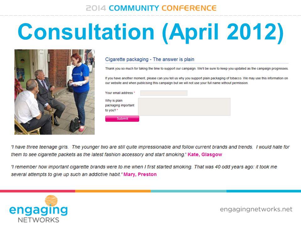 Consultation (April 2012)