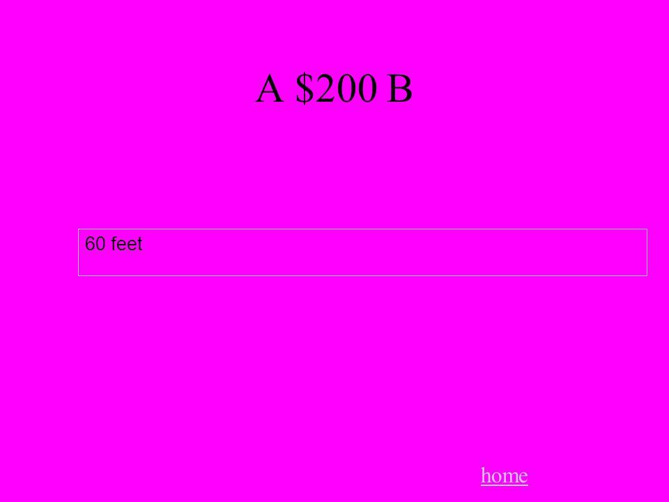 A $200 B home 60 feet