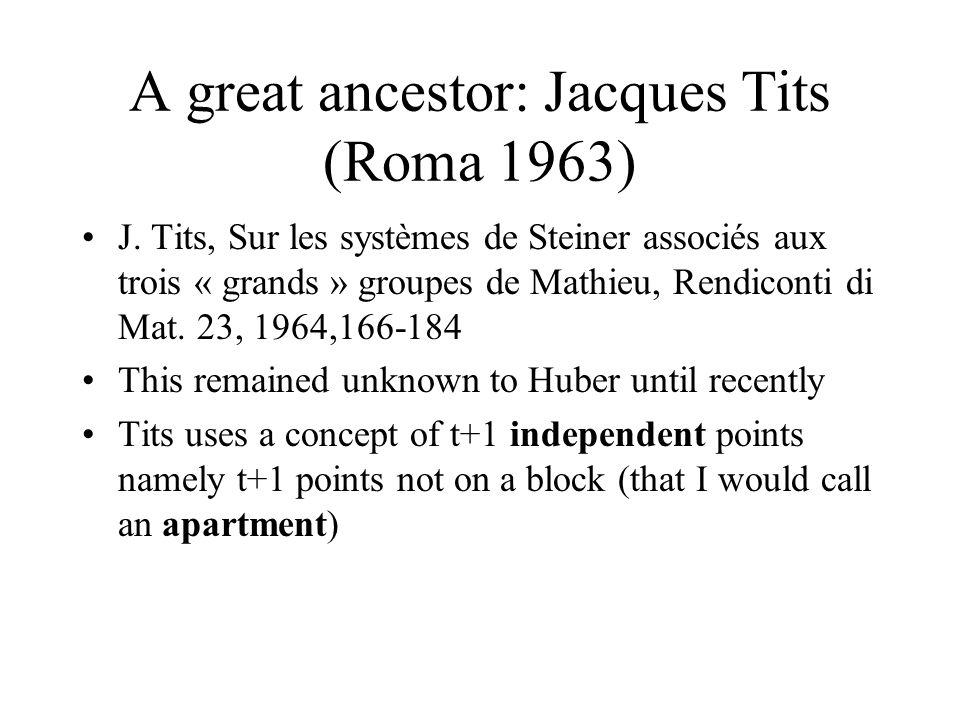A great ancestor: Jacques Tits (Roma 1963) J.