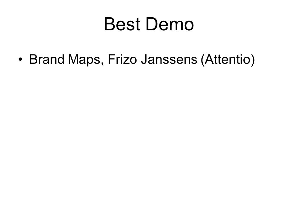 Best Demo Brand Maps, Frizo Janssens (Attentio)