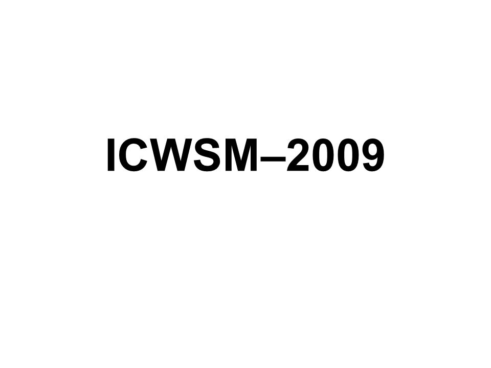 ICWSM–2009