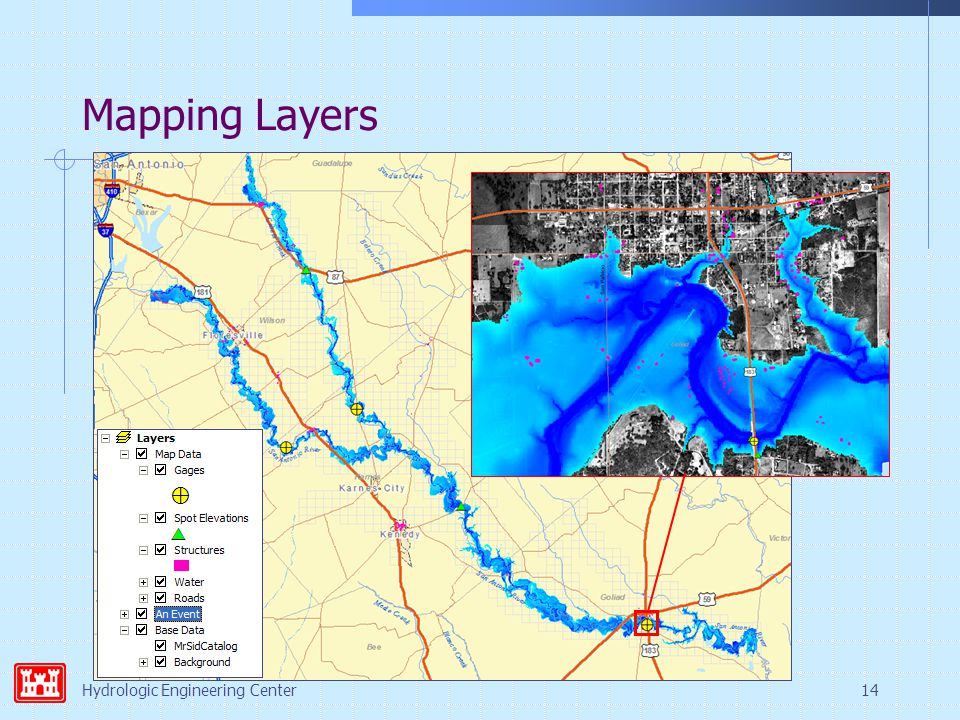 Hydrologic Engineering Center14 Mapping Layers