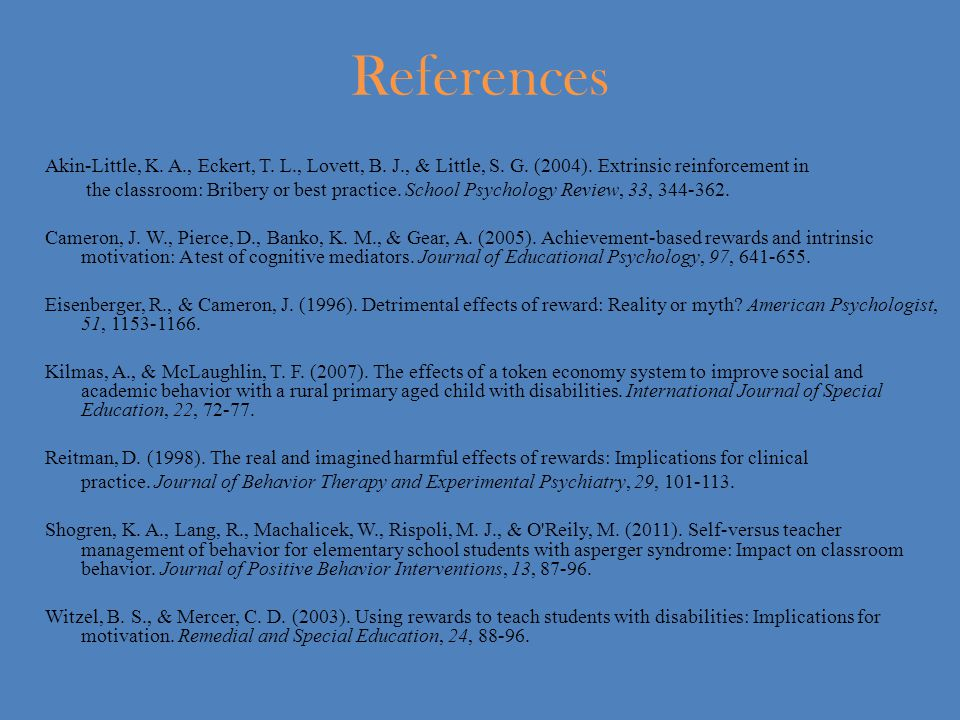 References Akin-Little, K. A., Eckert, T. L., Lovett, B.