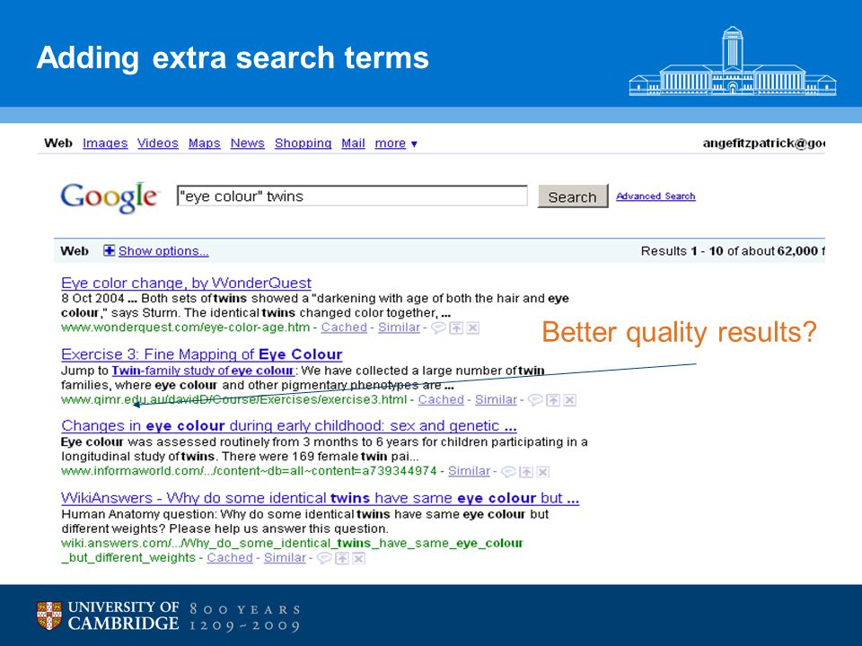 Adding extra search terms Better quality results?