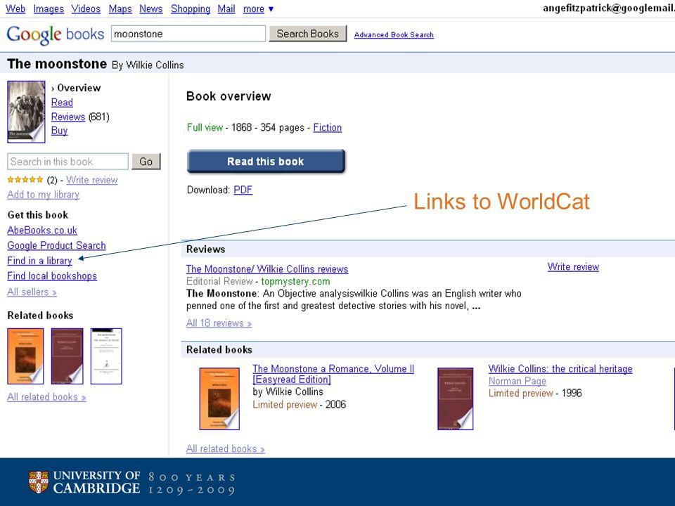 Links to WorldCat